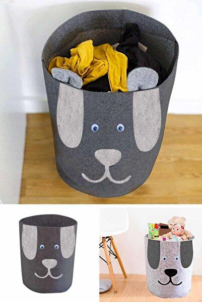 Helen's Home Köpek Figürlü Oyuncak Saklama Kutusu Kirli Çamaşır Sepeti