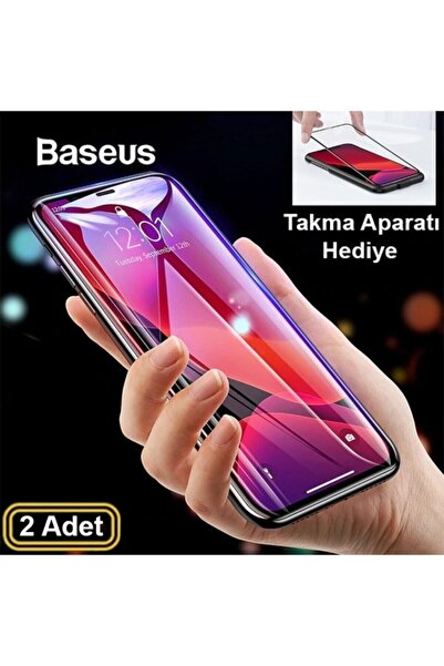 Baseus Iphone 11-6.1 Iphone Xr 3d Full Kırılmaz Cam Ekran Koruyucu 2 Adet Siyah