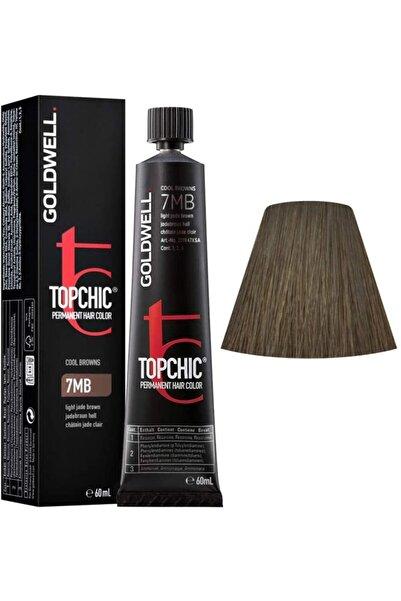 GOLDWELL Topchic Kalıcı Saç Boyası 60 Ml + Oksidan - 7mb Açık Yeşim Kahverengi