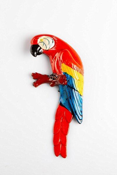 Dünyadan Hediyeler Renkli Papağan Magnet Buzdolabı Magneti