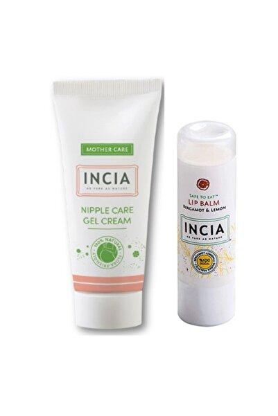 Incia Göğüs Ucu Bakım Jel Kremi + Incıa Bergamot & Limonlu Dudak Besleyici