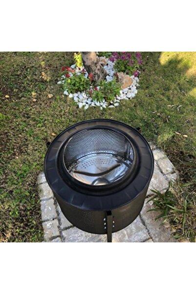 Karadağ Siyah Bahçe Şöminesi Bahçe Şöminesi Ateş Çukuru Ateş Kovası Isıya Dayanıklı Özel Boya