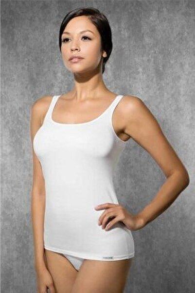 Kadın Ekru Modal Ip Askılı Atlet 9320