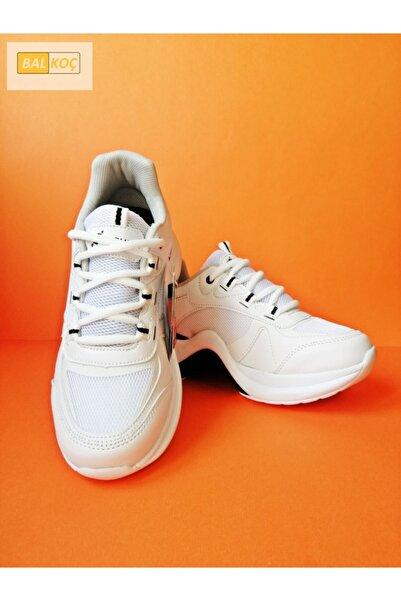 Twingo Kadın 601 Zenne Fashion Spor Sneaker Yürüyüş Ayakkabısı - Beyazbeyaz