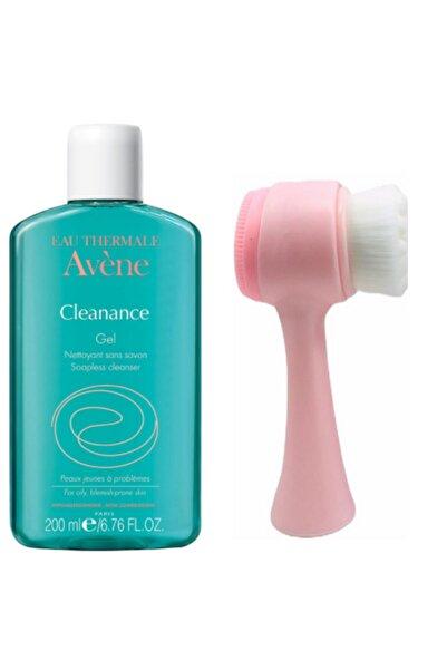 Avene Cleanance Gel Nettoyante 200 ml Ve Pudrashine Pembe Yüz Yıkama Fırçası