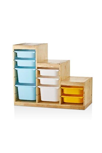 Vip Home Montessori Trofast Saklama Ve Düzenleme Ünitesi Oyuncak Dolabı Vpa-21