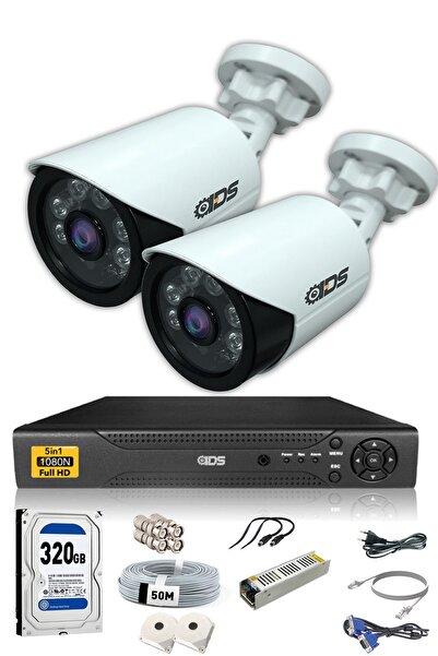 IDS 2 Kameralı 5mp Lensli 1080p Fullhd Kamera Seti - Gece Görüşlü - Su Geçirmez - Cepten Izle