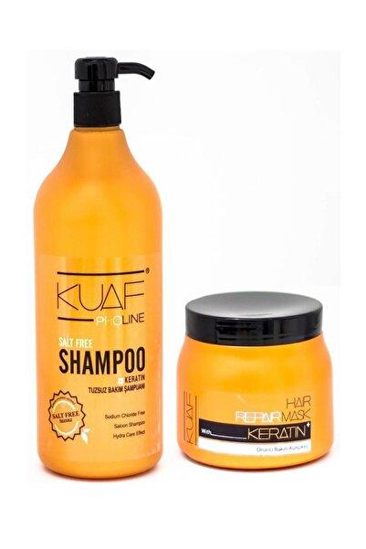 Kuaf Proline Tuzsuz Şampuan 1000 ml + Keratin Maske 500 ml