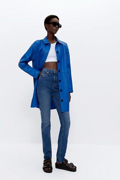 Uterqüe Kadın Mavi Soluk Efektli Jean 00113651