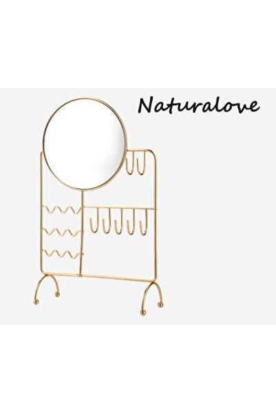 Naturalove Aynalı Metal Takı Askısı
