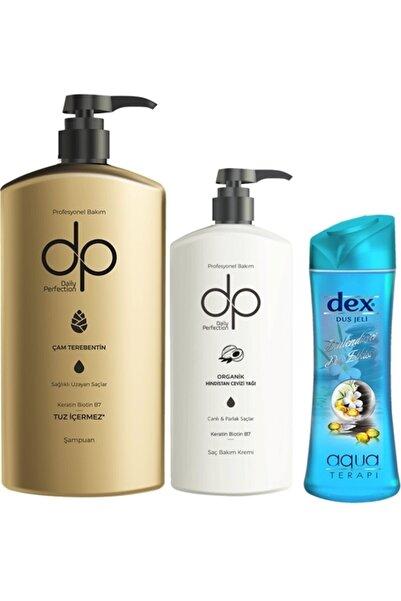 Yabigel Dp Çam Terebentin Tuzsuz Şampuan 800 Ml + Saç Bakım Kremi 500 Ml + Dex Aqua Duş Jeli 415 Ml