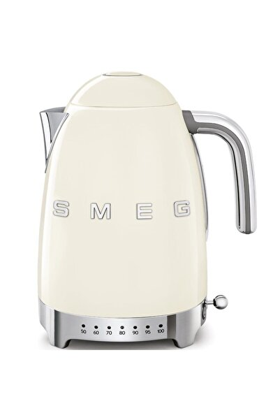 SMEG Krem Klf04creu Retro Isı Ayarlı 2400 Watt 1.7 litre Çelik Kettle