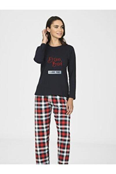 Kadın Kırmızı Dear Bad Pijama Takımı 66802