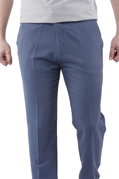 Canelia Indigo Erkek Klasik Pamuklu Pantolon