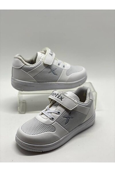 Kinetix Unisex Çocuk Beyaz Gri Spor Ayakkabı