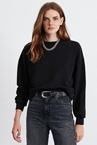 ELIZABETH Kadın Siyah  Basic Sweatshirt