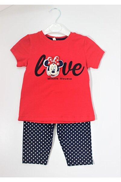 Mickey Mouse Kız Çocuk Mini Mause Baskılı Tayt Takımı