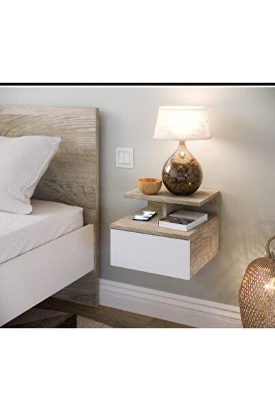 Ankaflex Duvara Monte Monteli Yatak Odası Çekmeceli Komodin Şifonyer
