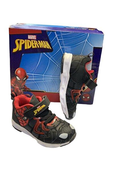 SPIDERMAN Erkek Çocuk Siyah Renk Bantlı Hafif Rahat Örümcek Adamlı Spor Ayakkabı Worgen
