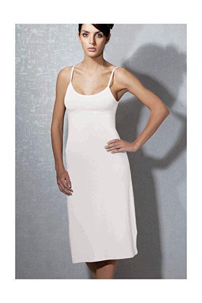 Doreanse Kadın Beyaz  Modal Askılı Jüpon Kombinezon 11129