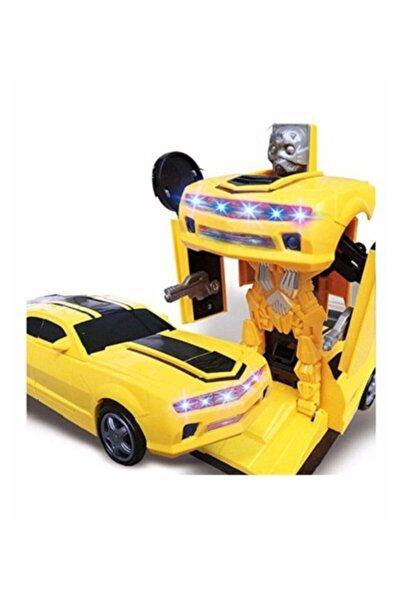Pasifik Toys 2 In 1 Bumblebee Robota Dönüşen Pilli Işıklı Sesli Camaro Araba