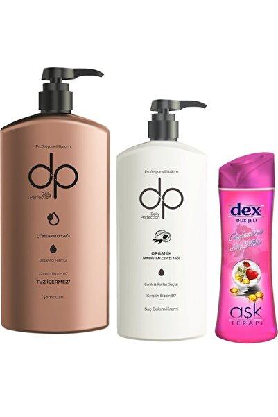 Yabigel Dp Çörek Otu Yağı Tuzsuz Şampuan 800 Ml + Saç Kremi 500 Ml + Dex Love Duş Jeli 415 Ml