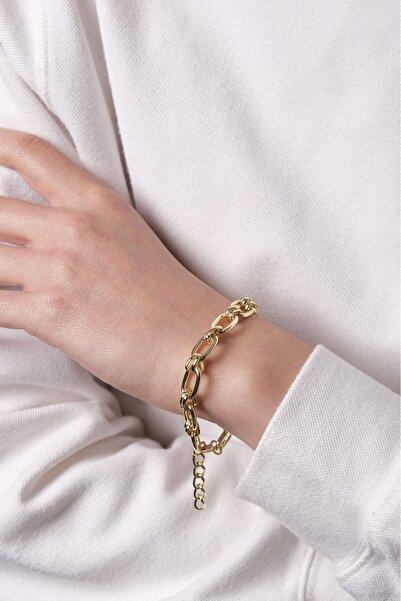 Marjin Kadın Altın Renkli Yassı Zincir Bileklikaltın