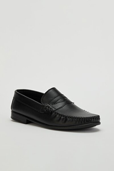 MUGGO Erkek Siyah Loafer Ayakkabı Mglion01