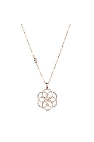 So CHIC... Yaşam Çiçeği Figürlü Gümüş Kolye