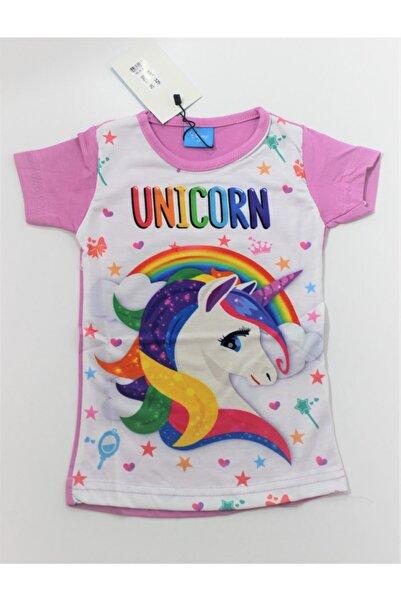Frozen Kız Çocuk  Dijital Baskılı Unicorn Tişört