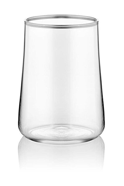 Bernardo Koleksiyon Aheste Kahve Yanı Bardağı Seti 6'lı Mat Platin Şeffaf