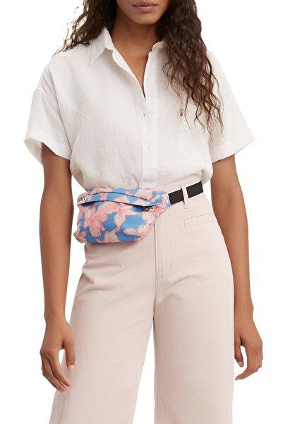 Levi's Kadın Beyaz Kısa Kollu Keten Gömlek