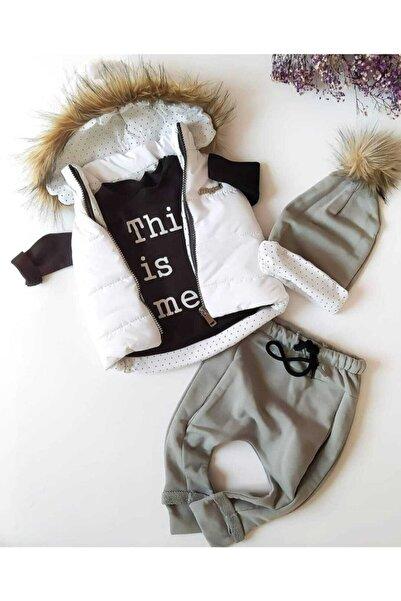 Hippıl Baby Unısex Bebek Şişme Yelekli Üçlü Takım