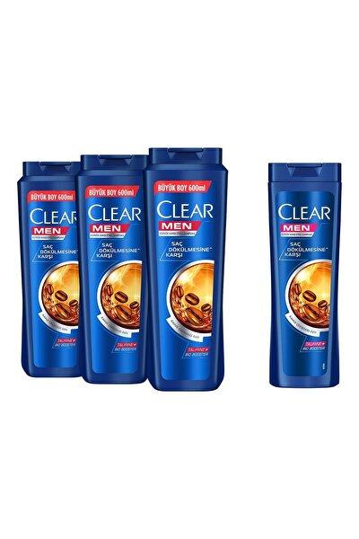 Clear Men Saç Dökülmesine Karşı Şampuan 600ml x3 + 180ml