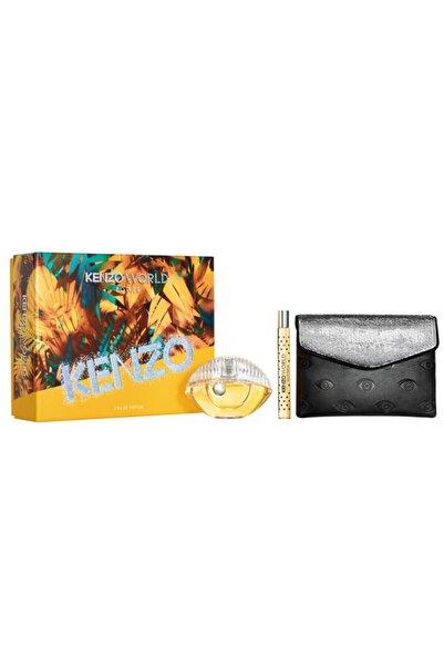 Kenzo World Power Edp 75 ml + 10 ml Kadın Parfüm Seti 3274872395374