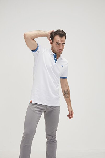Bad Bear RIM PIQUE POLO WHITE