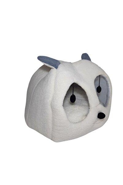 Nerotex Beyaz-mavi Kedi Kafalı Büyük Kedi Evi Yuvası