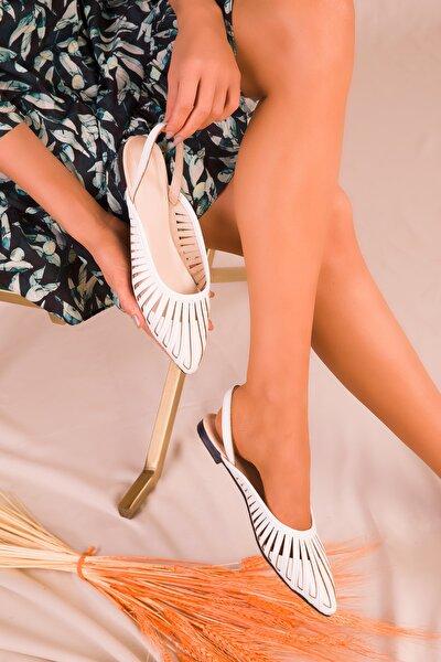 SOHO Beyaz Kadın Sandalet 15027
