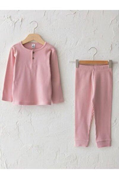 Kız Bebek Pembe Pijama Takım
