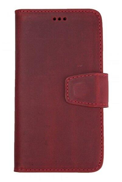 MobilCadde Wachikopa Iphone 11 Kapaklı Kırmızı Gerçek Deri Kılıf
