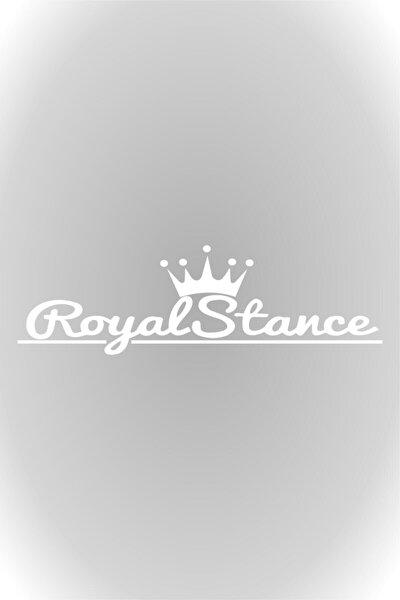 Quart Aksesuar 40 Cm Beyaz Royal Stance Oto Sticker, Araba Sticker