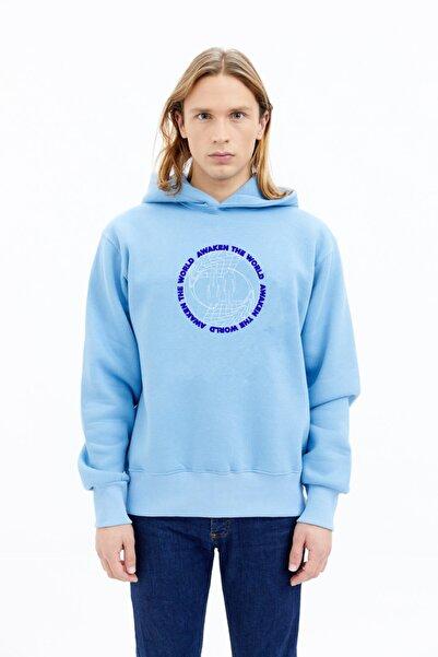 BeFour Out Unisex Mavi The World Sweatshirt