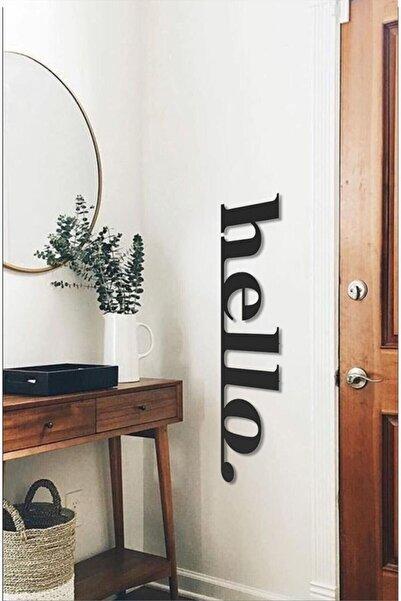 RetroLazer Hello Ahşap Duvar Yazısı