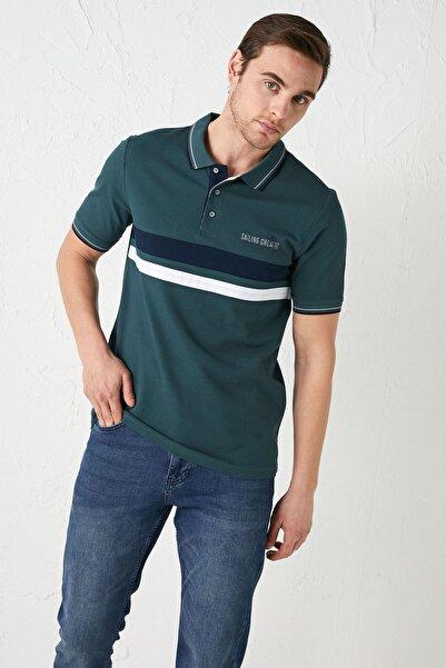 LC Waikiki Erkek Koyu Yeşil Classic Tişört