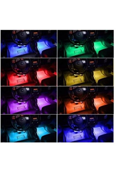 modifiyebudur Ayak Altı Üniversal Kumandalı 12 Ledli Sese Duyarlı Araç Içi Neon Led Aydınlatma Mdb-41542