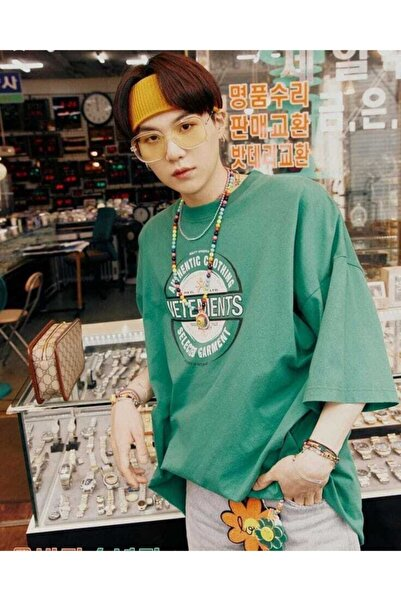 Kolpa Görkem Kore Unisex Yeşil Yoongi T Shirt