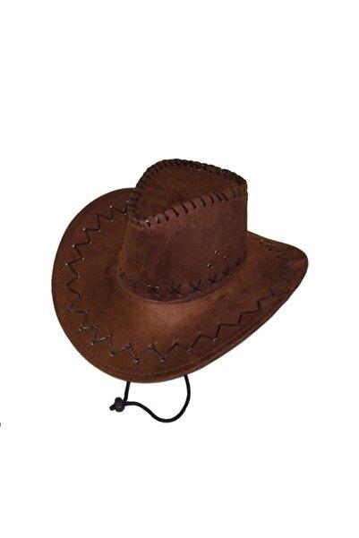 Kostüm Sarayı Unisex Kahverengi Kovboy Şapkası