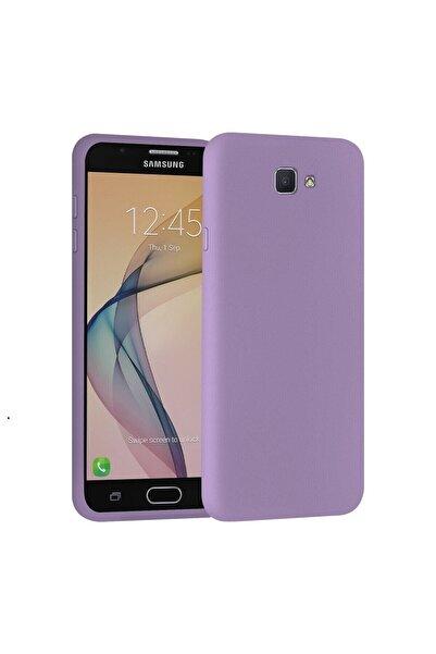 SARI STORE Samsung Galaxy J7 Prime Kılıf Içi Kadife Lansman Kapak Lila