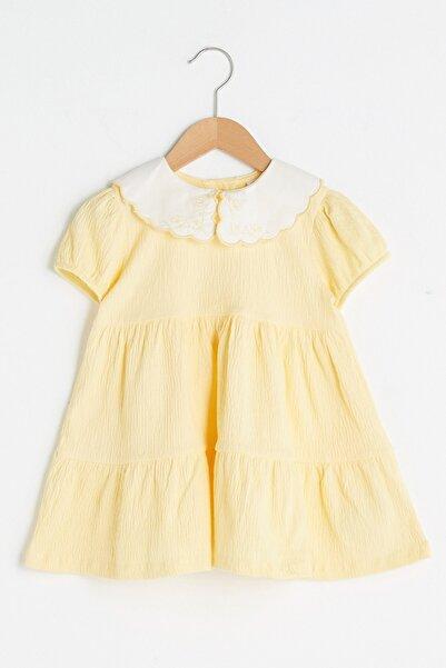 LC Waikiki Kız Bebek Sarı Fyq Elbise