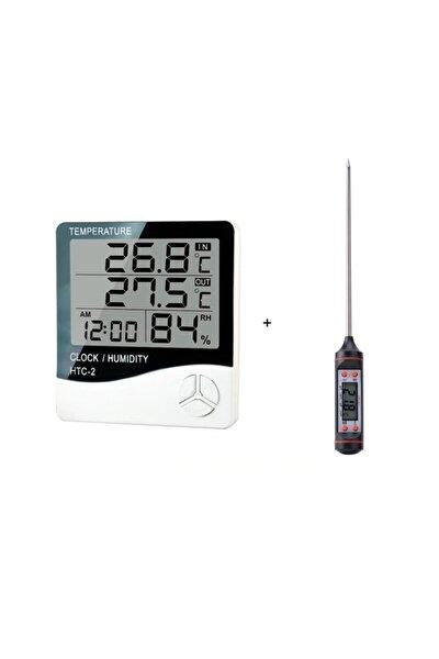 ZAUSS Htc-2 Dijital Termometre Higrometre Bebek Odası Banyo Daldırmalı Termometre
